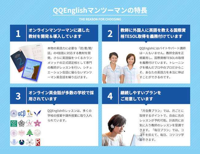 QQEnglish特徴
