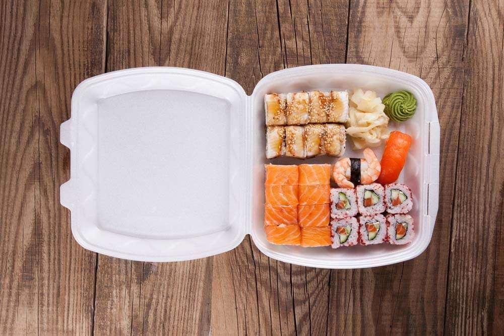 デリバリーの寿司