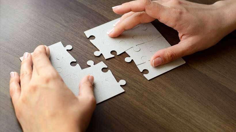 完成間近のパズル