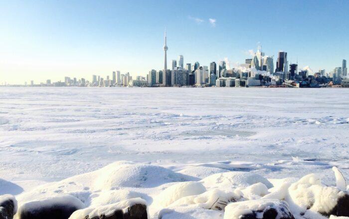 雪が降ったトロントの写真