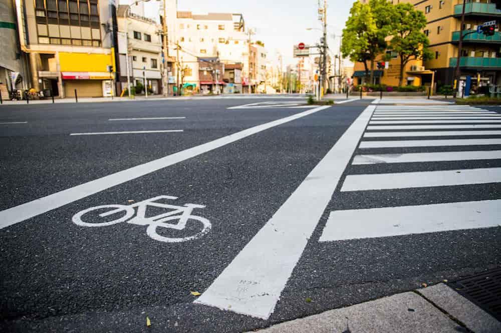 自転車向けの横断歩道