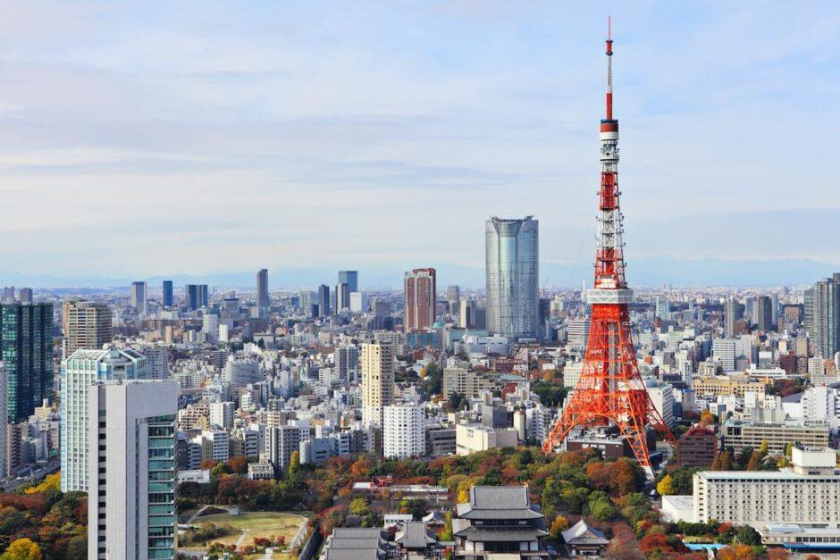 東京タワーと東京の景色