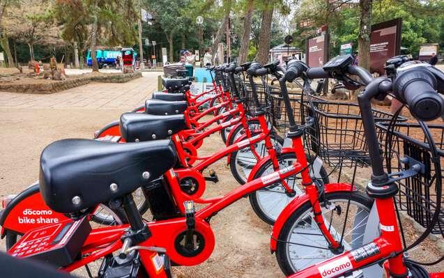 ドコモバイクシェアの駐輪場の写真