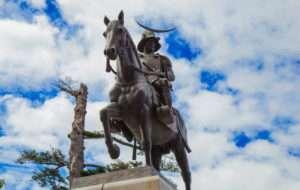 仙台城の伊達政宗像