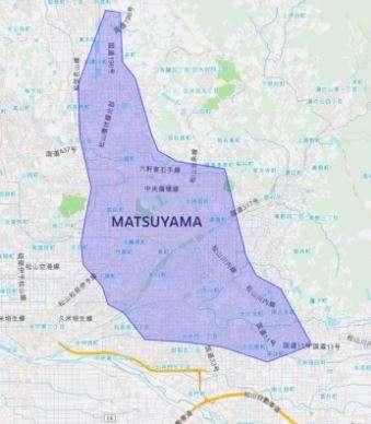 UberEATSの松山マップ