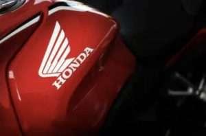 HONDAの赤いバイク