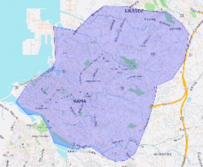 ウーバーイーツ沖縄のエリアマップ